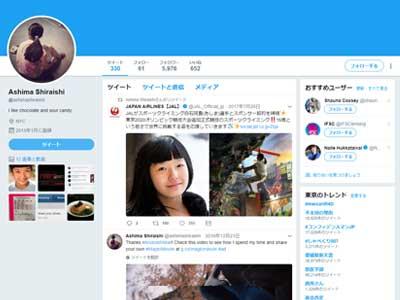 Twitterページのイメージ
